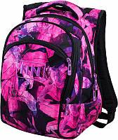 Яркий вместительный рюкзак для девочки Winner One с розовыми лилиями школьный