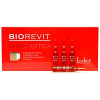Лечебные ампулы для стимулирования роста волос и против выпадения Lecher Biorevit Tonic Antica