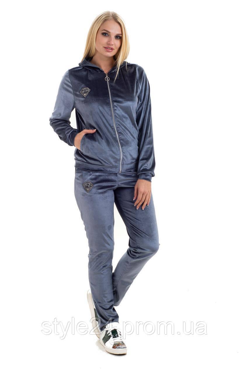 ЖІночий батальний велюровий спортивний костюм  .Р-ри 46-54