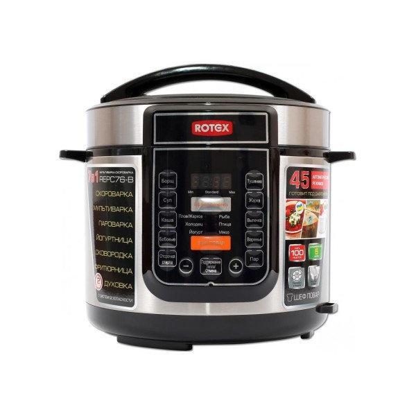 Мультиварка ROTEX кухонная мультиварка-скороварка REPC76-B 900 Вт