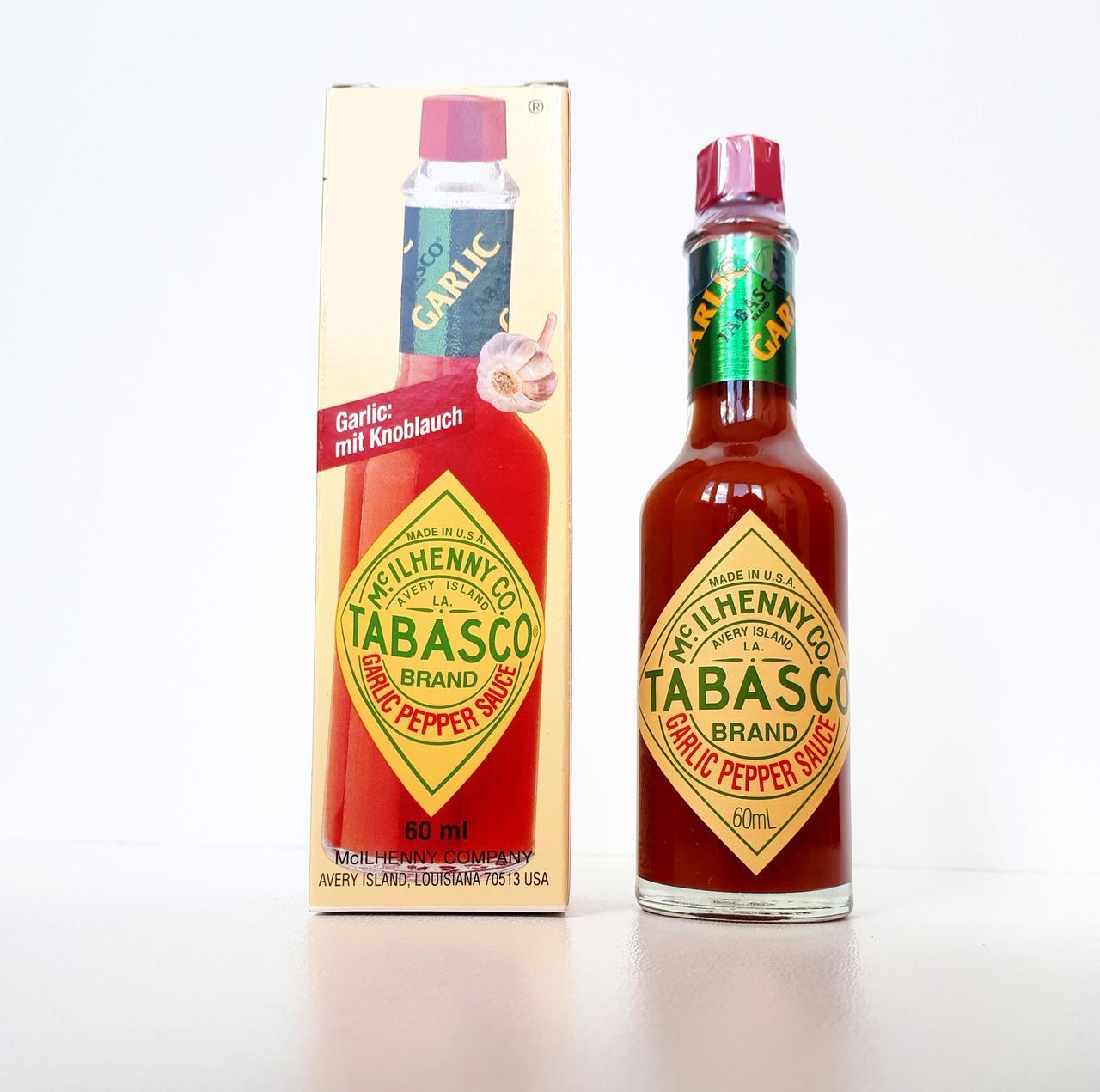 Соус TABASCO GARLIC из острого перца с чесноком 60 мл (США)