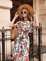 Красивое воздушное летнее платье 42 - 44 две расцветки, фото 1