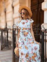 Легкое летнее платье 42 - 44 две расцветки, фото 1