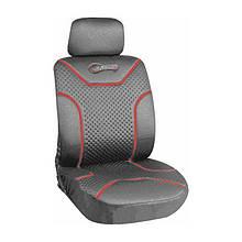 Чехлы на передние сиденья  MILEX Classic 2шт серые+оплетка