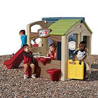 Игровой домик с горкой Step2 8510. Домик для детей