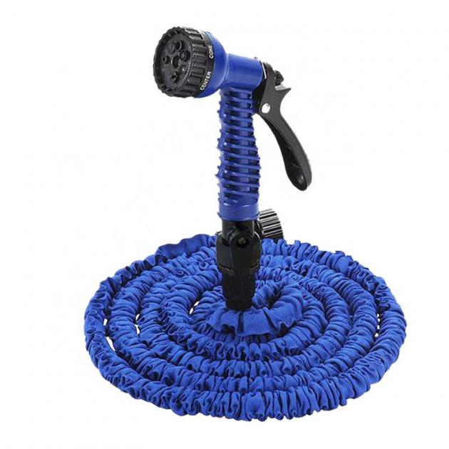 Усиленный садовый шланг для полива XHose 45м. с распылителем Magic Hose Синий