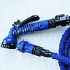 Усиленный садовый шланг для полива XHose 45м. с распылителем Magic Hose Синий, фото 3