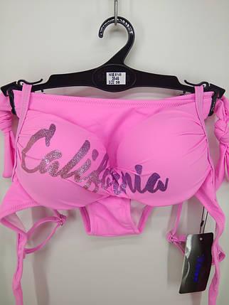 Купальник Калифорния розовый на 44 46 48 50 52 размер., фото 2