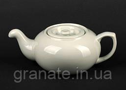 Чайник заварочный 550 мл белый фарфор