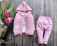 Детский костюм тройка на девочку Турция 6 -12-18 месяцев