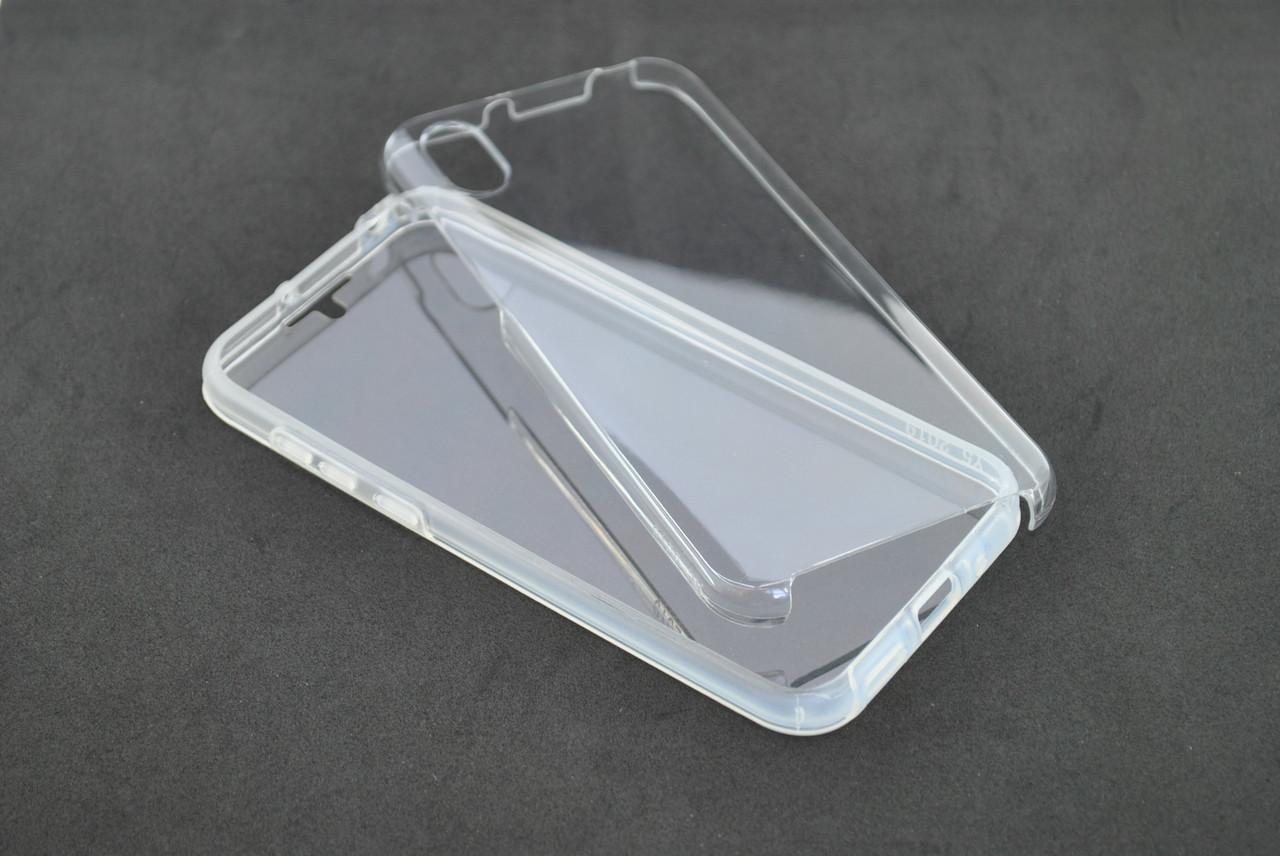Чехол Samsung A10/A105 (2019)/M10 Silicone 360 Fully + Pet Resist film прозрачный