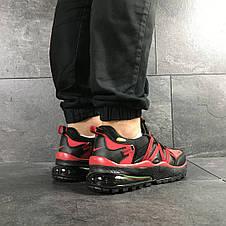 Чоловічі кросівки Nike,чорні з червоним, фото 2
