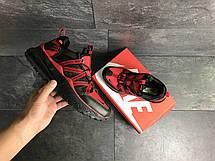 Чоловічі кросівки Nike,чорні з червоним, фото 3