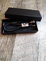 Брелок для автомобильных ключей  BMW кожаний для бмв + подарункова коробка