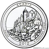 США 25 центов (квотер) 2012   - Акадия (13-й парк)