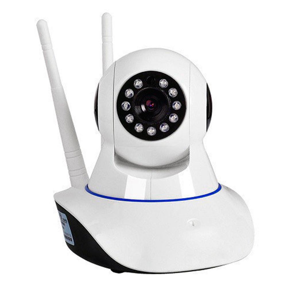 IP камера видеонаблюдения Q5 - на 2 антены  WIFI Smart NET camera Q5 + ПОДАРОК: Настенный Фонарик с