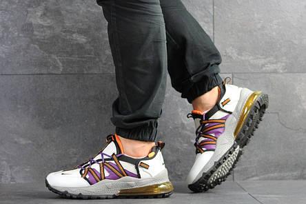 Мужские кроссовки Nike,белые с фиолетовым, фото 2