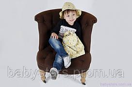 """Панамки для малышей + рюкзак, """"Елочки желтые"""""""