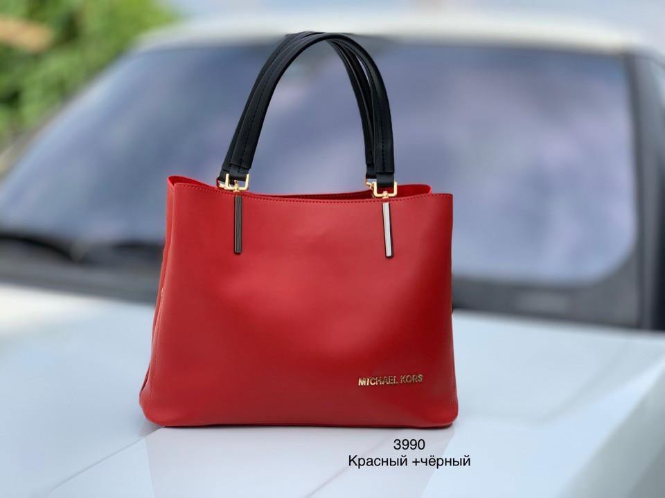 0d5d61280728 Красивая женская сумка Michael Kors (Майкл Корс) красная с черными ручками