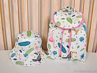 """Рюкзаки для девочек + панама, """"Туканы"""", фото 1"""