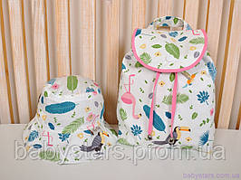 "Панамка для малышей + рюкзак, ""Туканы"""