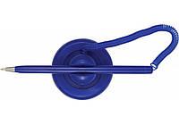 Ручка кулькова на підставці ECONOMIX POST PEN 0,5 мм. Корпус синій, пише синім