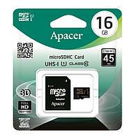 Карта памяти microSDHC (UHS-1) Apacer 16 GB class 10 (+SD adapter)