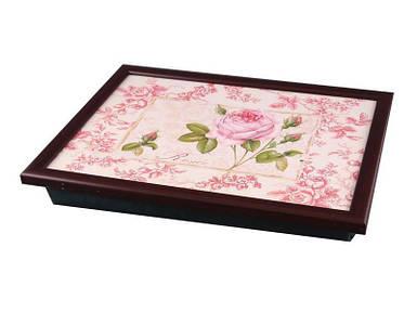 Поднос для завтрака в постель Lefard Розовая роза  32.5x43.5x6.5 см 259-079