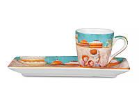 Чашка кофейная 75 мл с блюдцем Gapchinska 2 пр Сладкая жизнь Гапчинская 924-194 для кофе эспрессо
