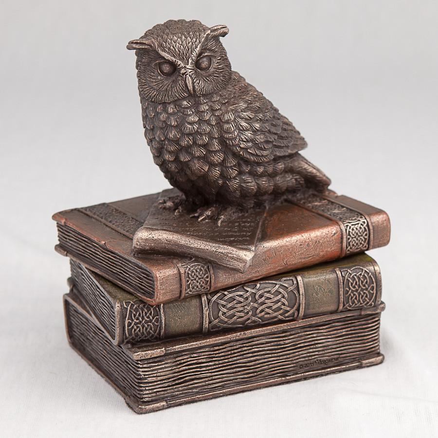Шкатулка Veronese Сова на книгах 12 см 75509 веронезе статуэтка-шкатулка