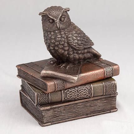 Шкатулка Veronese Сова на книгах 12 см 75509 веронезе статуэтка-шкатулка, фото 2