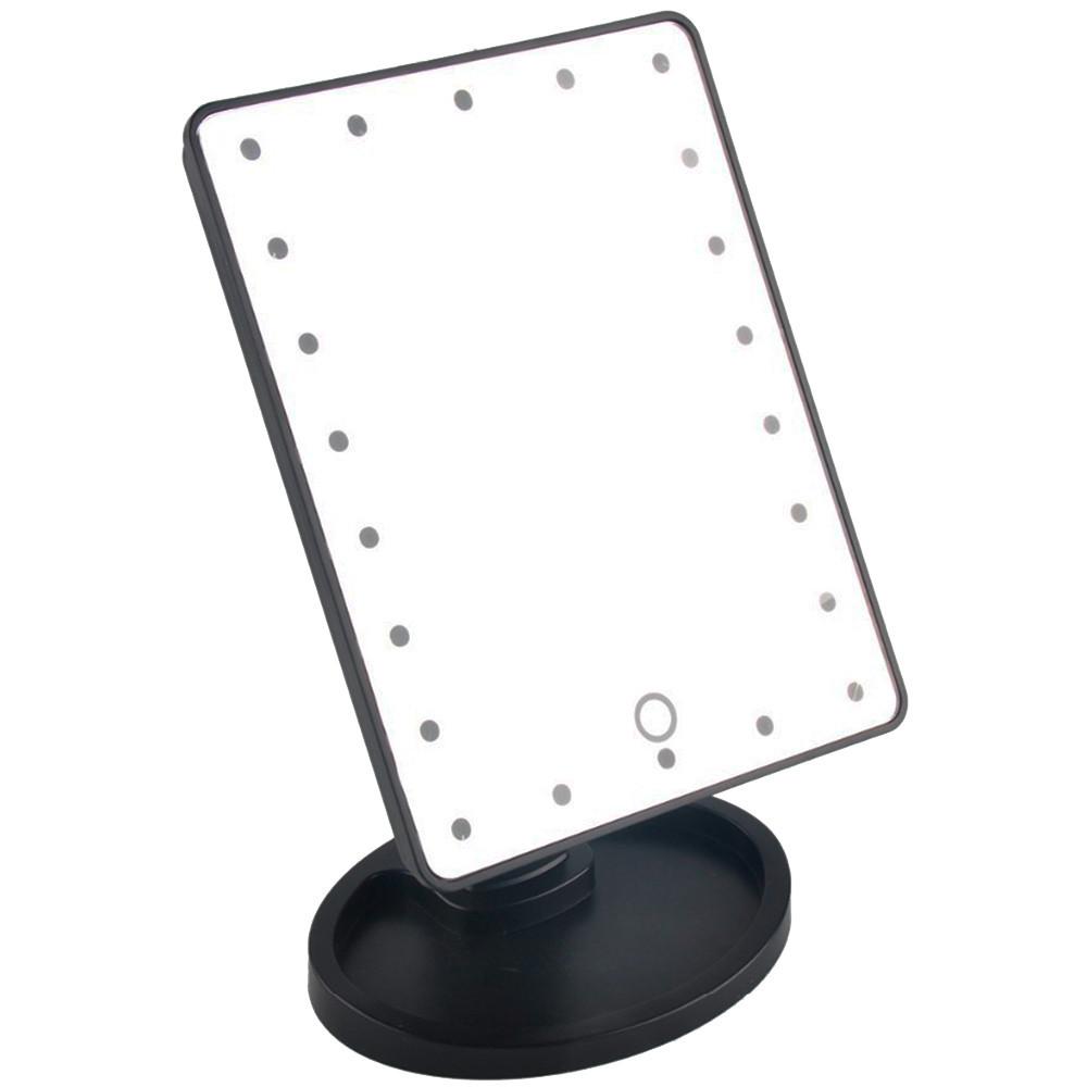 Зеркало с подсветкой H0170 (22 диода) - ЧЕРНОЕ D1021