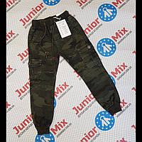 Детские котоновые камуфляжные брюки  на манжетах для мальчиков оптом F26