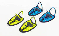 Лопатки для плавания гребные TP-200 (пластик, резина, р-р S-L, желтый, синий, салатовый)