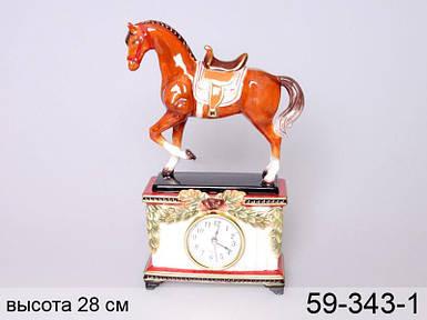 Часы настольные Конь 28 см 59-343-1