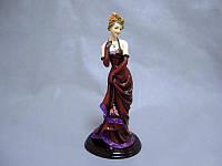 Фигурка декоративная Дама 35 см статуэтка девушка женщина леди в платье полистоун