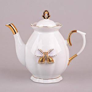 Заварочный фарфоровый чайник Lefard принцесса 550 мл 55-2552 заварник для чая фарфор