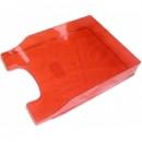 Лоток для паперів горизонтальний пластик, яскраво-червоний