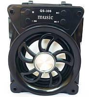 Портативна Bluetooth колонка QS-306, чорна, фото 1