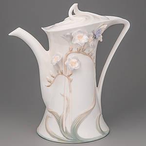 Чайник заварочный фарфор Unicorn studio Бабочка в цветке 21см 20173 фарфоровый чайник заварник