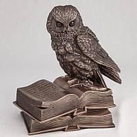 Статуэтка Veronese Сова на книгах 17 см 74109 фигурка совы филин веронезе с книгами