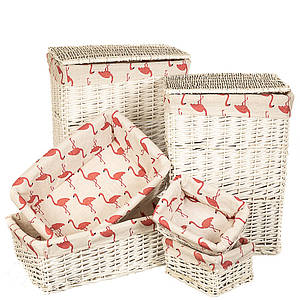 Набор корзин для белья Фламинго 6 шт корзины комплект 060PV плетеная корзина для белья из лозы лоза