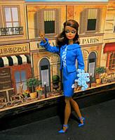 Коллекционная Барби Модель в синем Barbie Fashion Model Collection Suit Doll Blue, фото 1