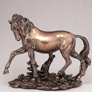 Статуэтка Veronese Дикая лошадь 20 см 76105 A4 конь фигурка лошади веронезе