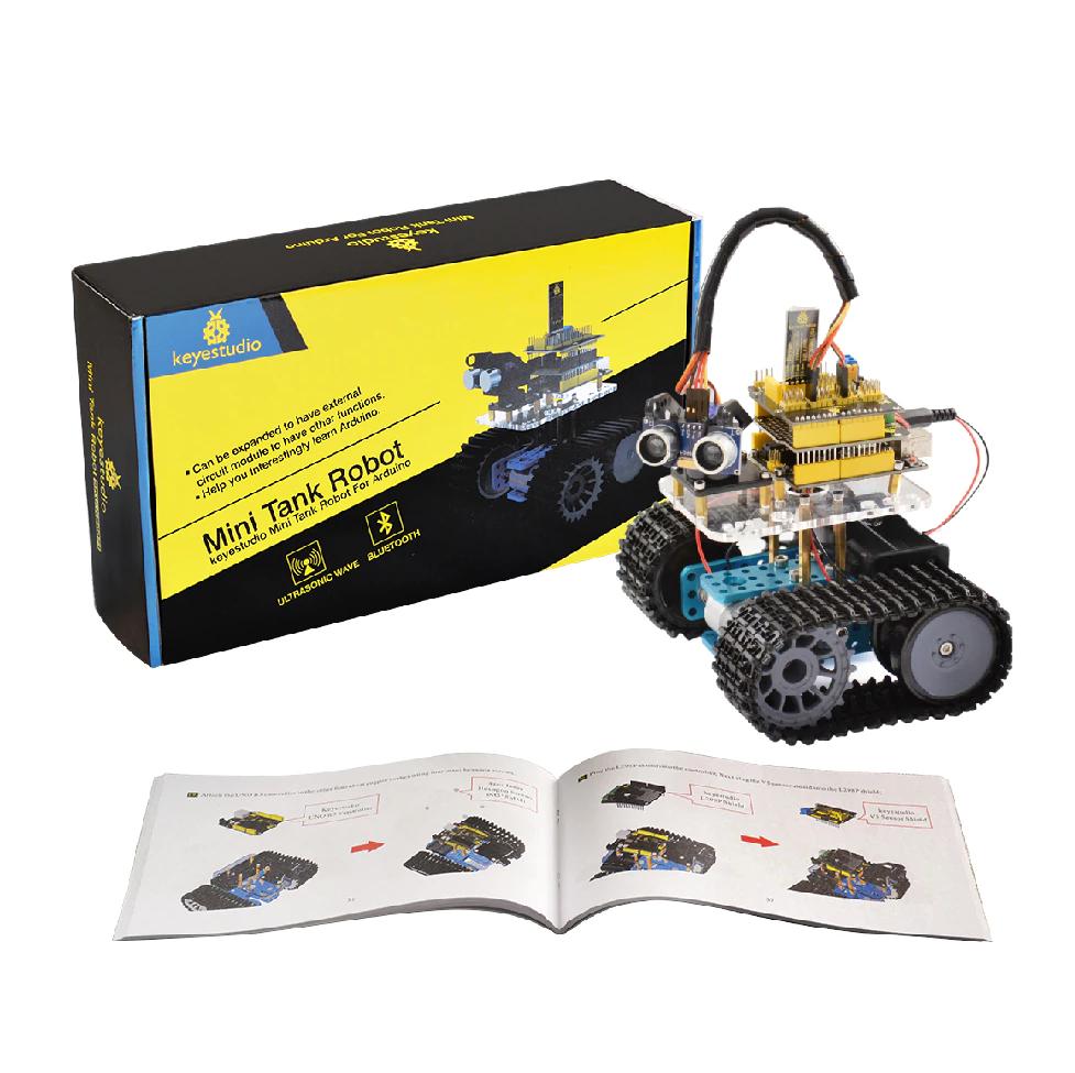 Набор Arduino Мини-танк Робот с Bluetooth (Лучший подарок)