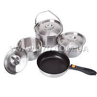 Набор посуды Kovea All-3PLY Stainles Cookware(7~8) KKW-CW1105 (3 кастрюли, сковорода)