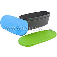 Набор посуды LIGHT MY FIRE SnapBoх Oval (4 предмета), зеленый/голубой