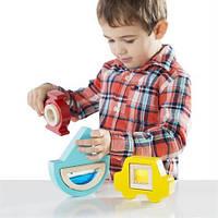 Сортер для детей от 2 лет Транспорт с акриловыми окошками с песком, водой, бусинками