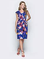 Красивое женское летнее платье в цветочный принт р.44,46