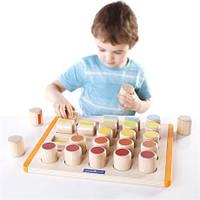 Развивающая игрушка для детей от 2 лет - детский набор для обучения Счетные цилиндры